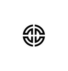 letter c and d logo design concept vector image