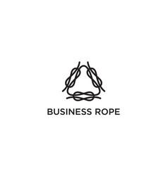 link rope logo design concept vector image