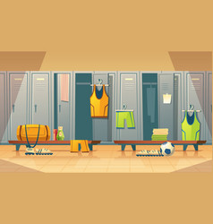Locker changing room for sports gym vector