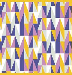 mid century retro geometric seamless pattern vector image