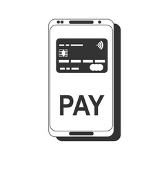 Mobile payment nfc smart phone concept flat icon vector