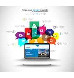 Modern Cloud Globals Services concept background vector image