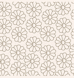 monochrome background with pattern of daisy vector image