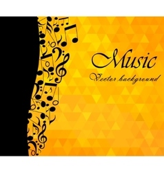 Music Backgound musical notes vector image