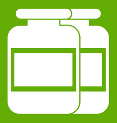 nutritional supplement for athletes icon green vector image