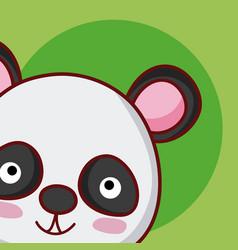 panda bear cute animal cartoon vector image