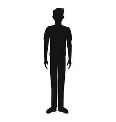 pictogram man standing avatar design vector image