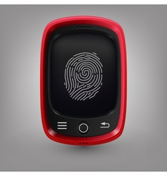 Red phone Fingerprint vector