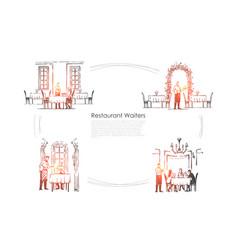 restaurant waiters - waiters in restaurants vector image