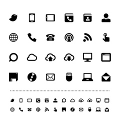 Retina communication icon set vector