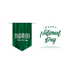 Saudi arabia national day template design vector