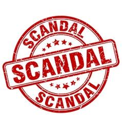 Scandal red grunge round vintage rubber stamp vector