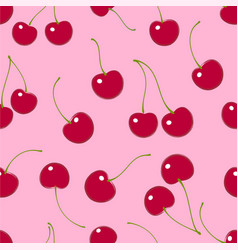 Seamless pattern cherry textile print vector