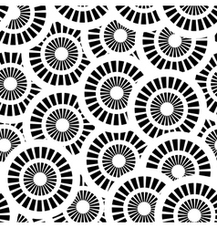 Seamless pattern with white and black circles vector image