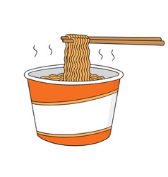 Set of noodle vector