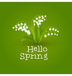 Spring background with snowdrops Hello Spring vector image