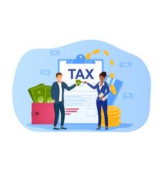 Taxes paying concept vector