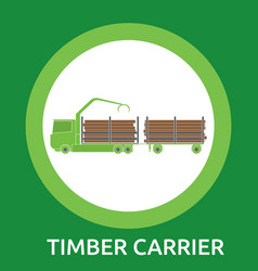timber carrier hand-drawn on white background vector image