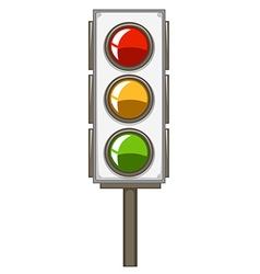 Traffic lights with pole vector