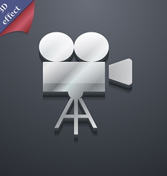 Video camera icon symbol 3D style Trendy modern vector image