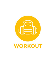 workout fitness round icon vector image