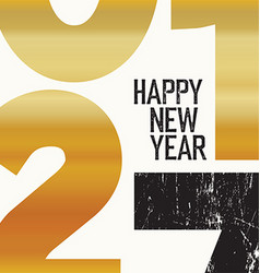2017 Happy New Year Card Gold vector image vector image