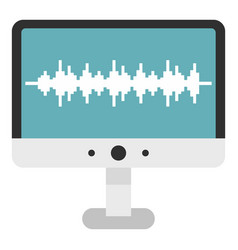 audio technology monitor icon isolated vector image