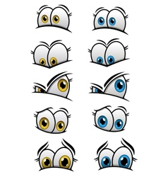 Cartooned eyes with different emotions vector image