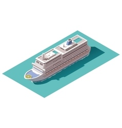 isometric cruise ship vector image