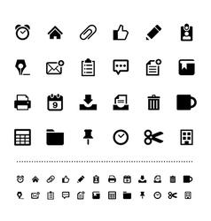 Retina office tools icon set vector image