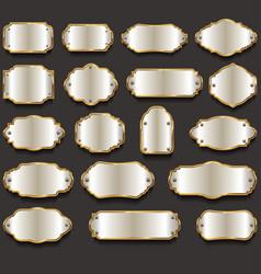 retro vintage silver frames collection vector image vector image