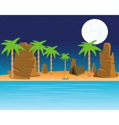 Tropical coast with palm vector image vector image
