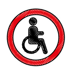 disable person isolated icon vector image