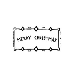 frame merry christmas vector image vector image