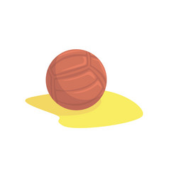 volleyball in the sand cartoon vector image vector image