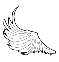 bird big wing icon outline style vector image