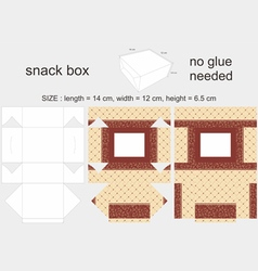 Brown Snack Box 12x14x65cm vector image