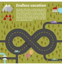 Endless vacation vector image