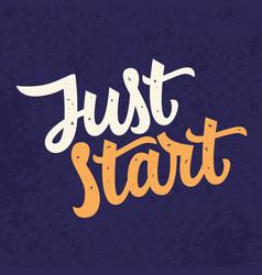just star slogan modern calligraphy vector image