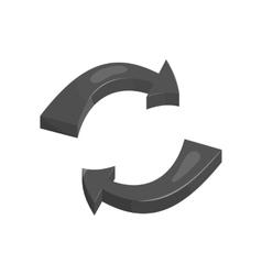Rotation arrows icon black monochrome style vector image