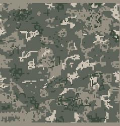 seamless khaki camouflage of pixel pattern vector image