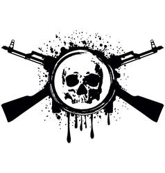skull akm blood vector image vector image