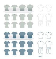 t-shirts fashion set vector image