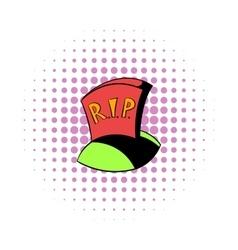 Tombstone rip icon comics style vector