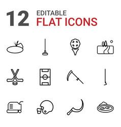12 grass icons vector