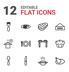 12 plate icons vector