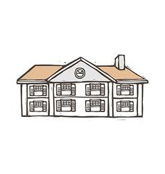 A villa is placed vector