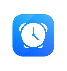alarm clock flat icon glossy icon isolated on vector image