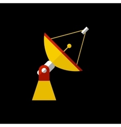 Antenna flat icon vector image
