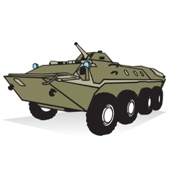 Armored troop-carrier vector